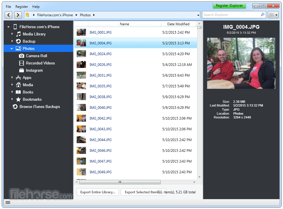 iExplorer 4.1.14.0 Captura de Pantalla 1