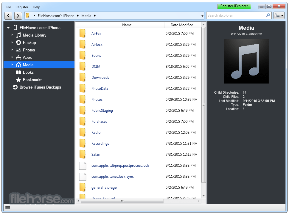 iExplorer 4.1.14.0 Captura de Pantalla 4