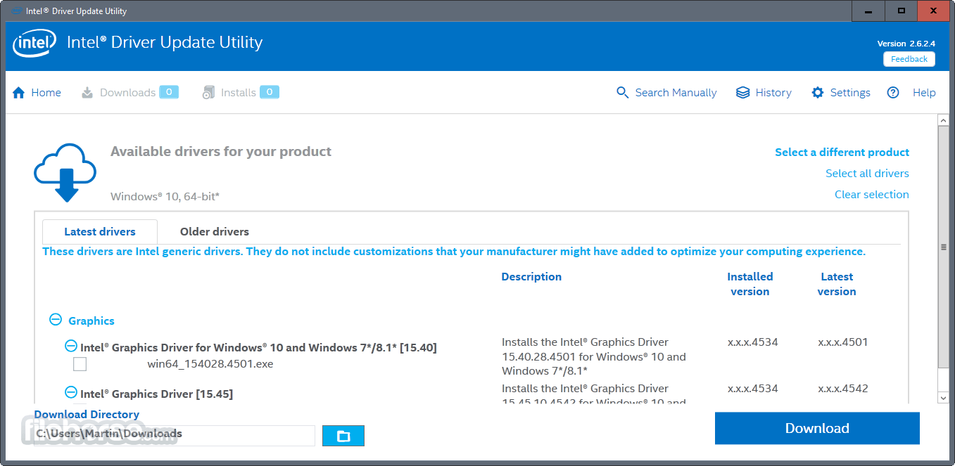 Intel Driver Update Utility 3.4.0.4 Captura de Pantalla 2