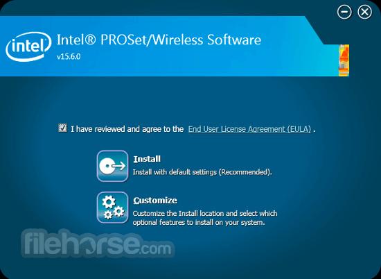Intel PROSet/Wireless Software 20.10.2 (Windows 10 64-bit) Captura de Pantalla 1