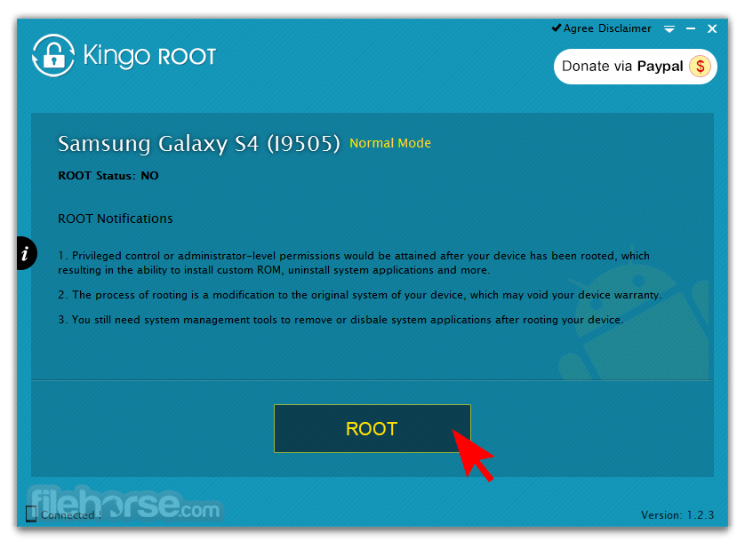 Kingo Android Root 1.5.8 Build 3353 Captura de Pantalla 3