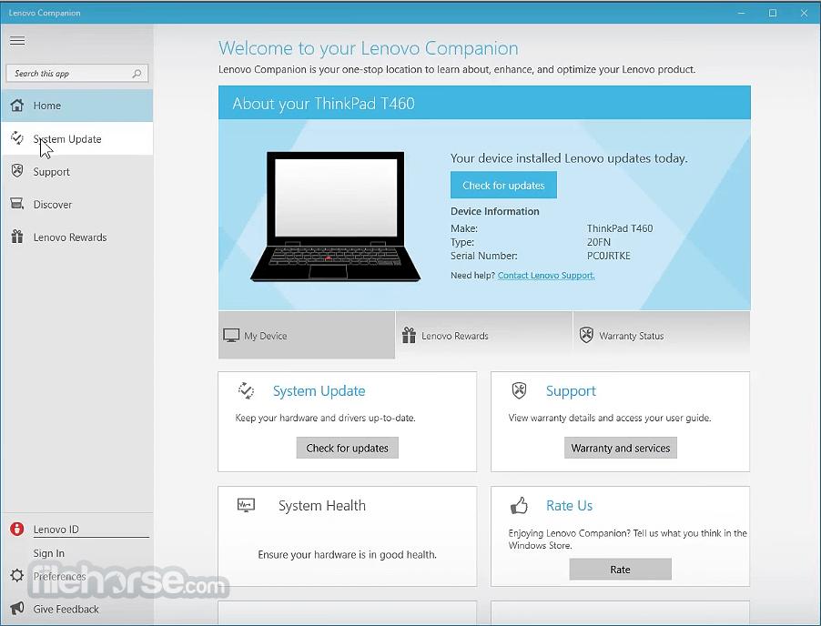 Lenovo System Update 5.07.0117 Screenshot 1