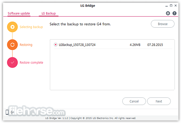 LG Bridge 1.2.42 Screenshot 2