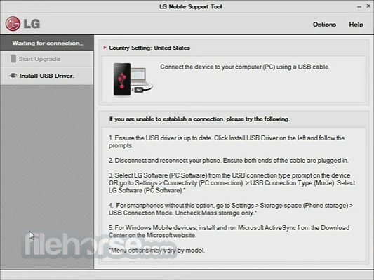 LG Mobile Support Tool 1.8.9.0 Captura de Pantalla 1