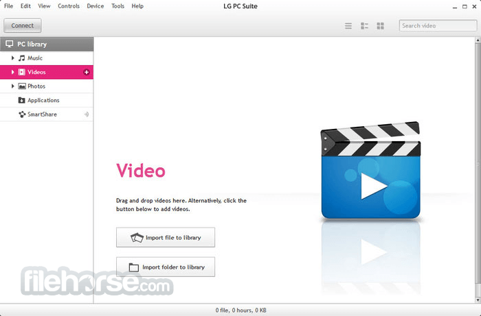 LG PC Suite 5.3.25 Screenshot 2