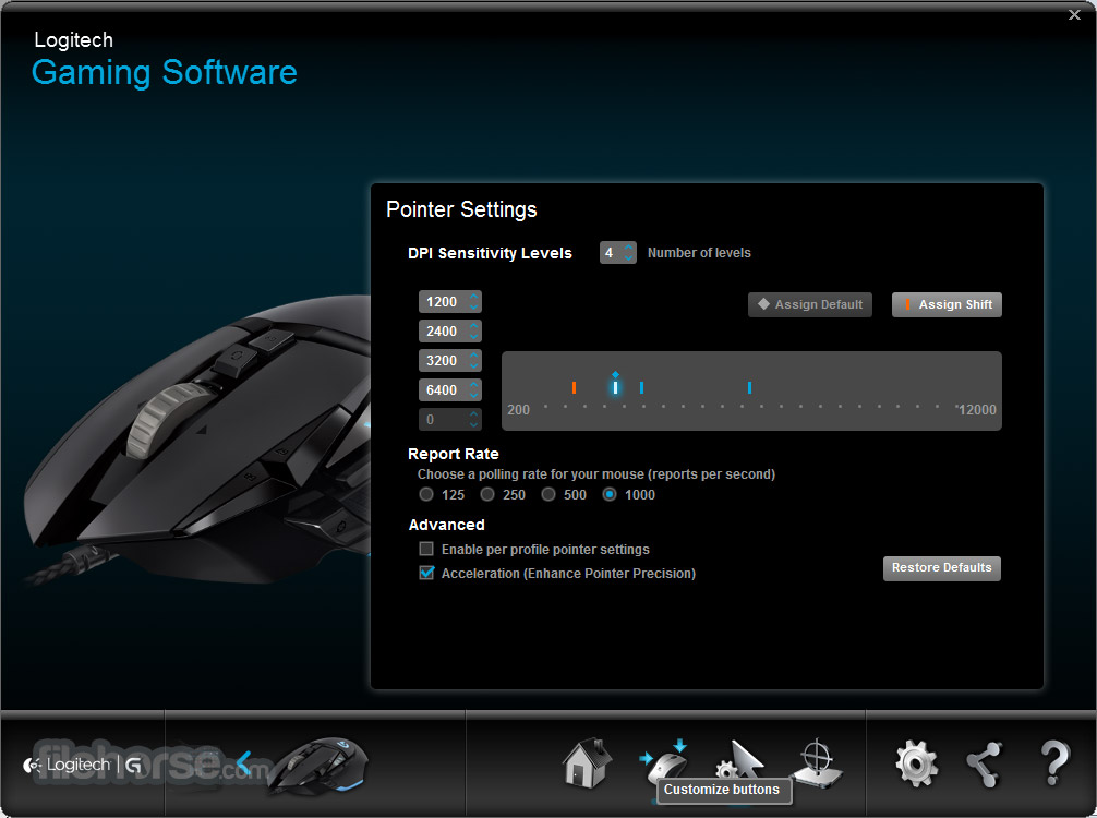 Logitech Gaming Software 8.96.88 (64-bit) Screenshot 1
