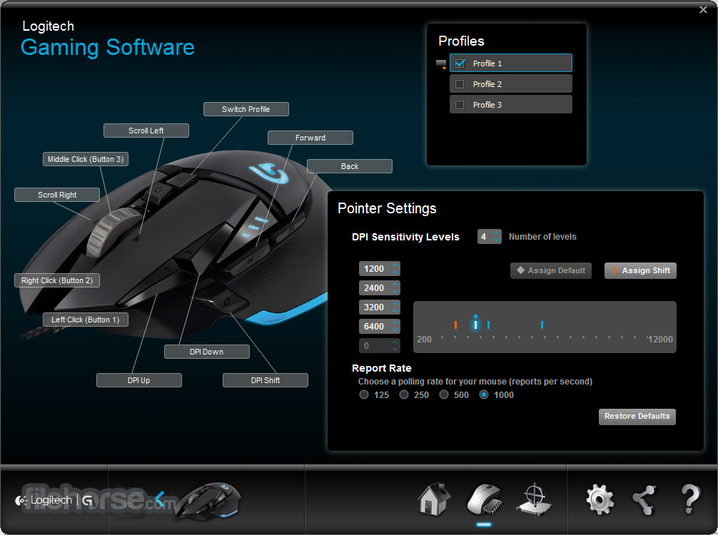 Logitech Gaming Software 8.96.88 (64-bit) Screenshot 4