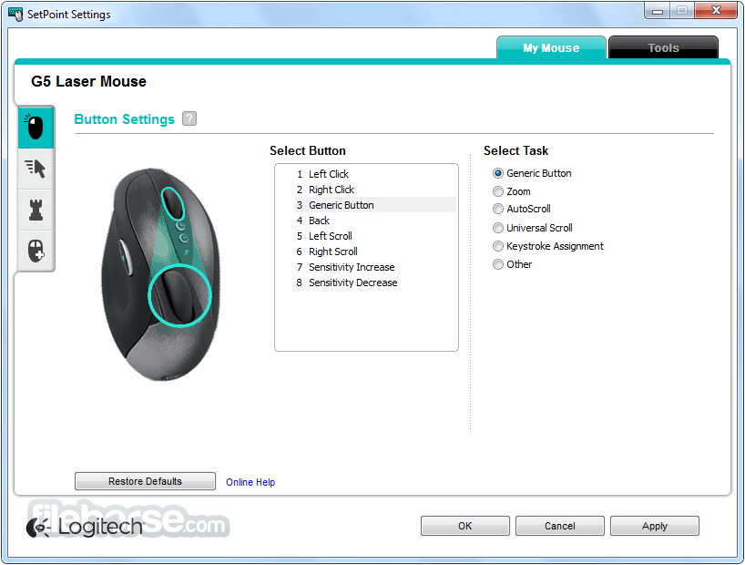 SetPoint 6.69 (64-bit) Screenshot 1