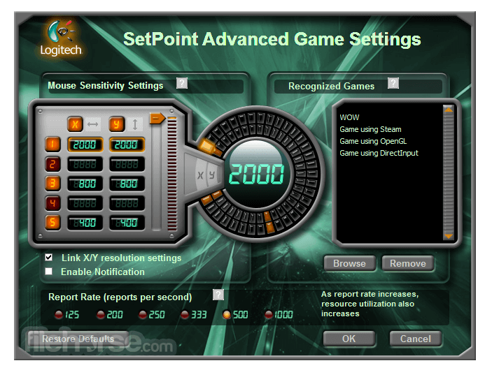 SetPoint 6.69 (64-bit) Screenshot 5