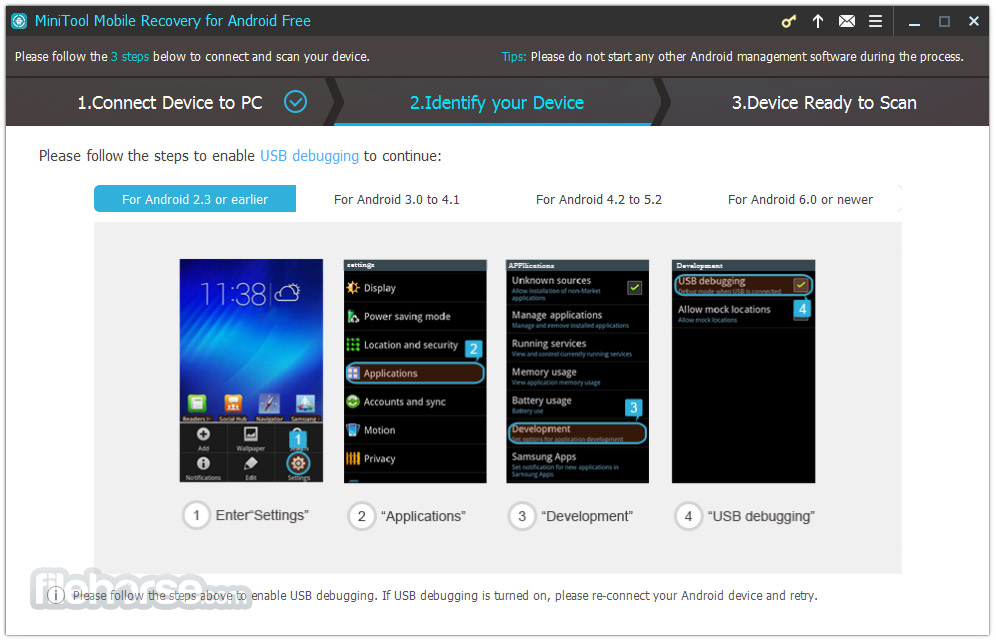 MiniTool Mobile Recovery for Android Free 1.0 Screenshot 2