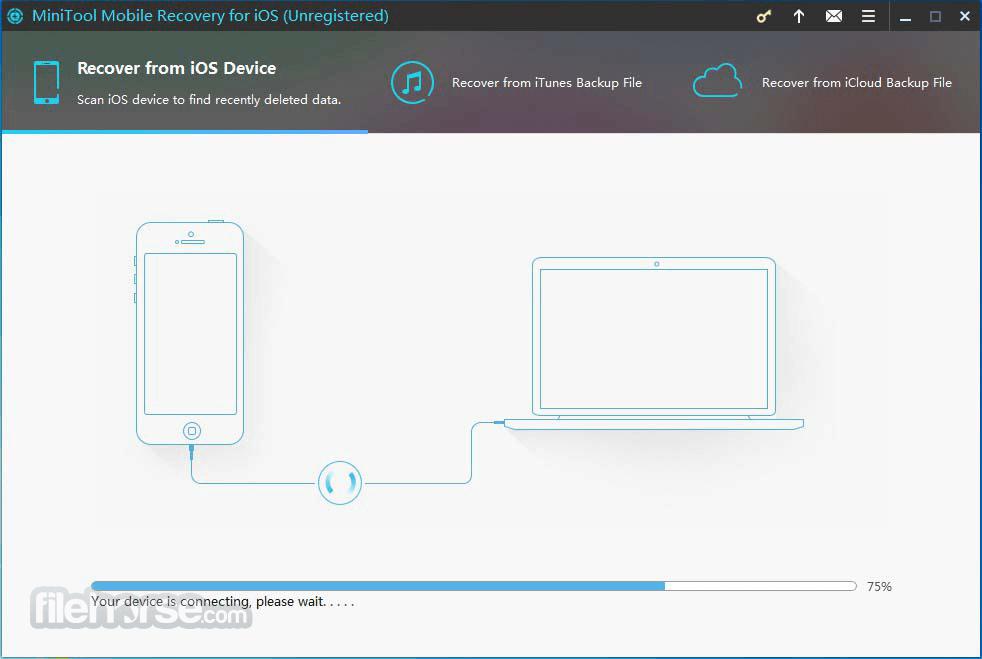 MiniTool Mobile Recovery for iOS 1.4.0.1 Captura de Pantalla 1