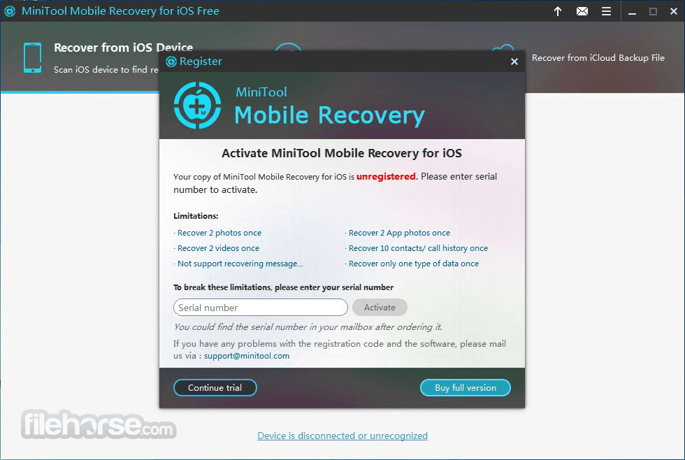 MiniTool Mobile Recovery for iOS Download (2019 Latest) for