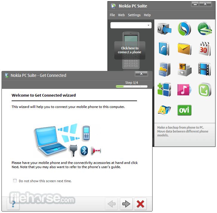 Nokia PC Suite 7.1.180.94 Screenshot 1