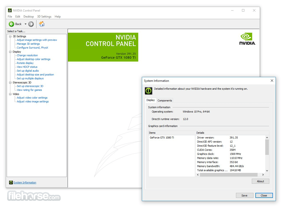 NVIDIA Forceware 368.81 WHQL (XP 64-bit) Screenshot 1