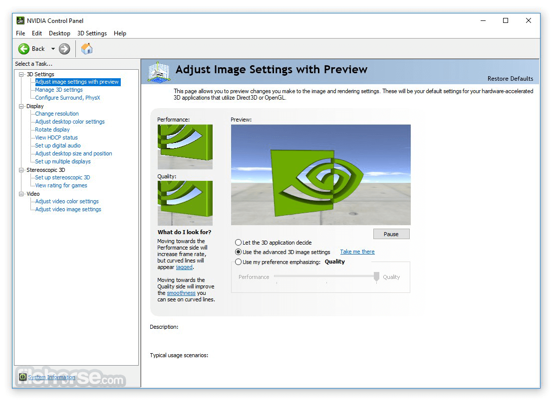 NVIDIA Forceware 368.81 WHQL (XP 64-bit) Screenshot 2