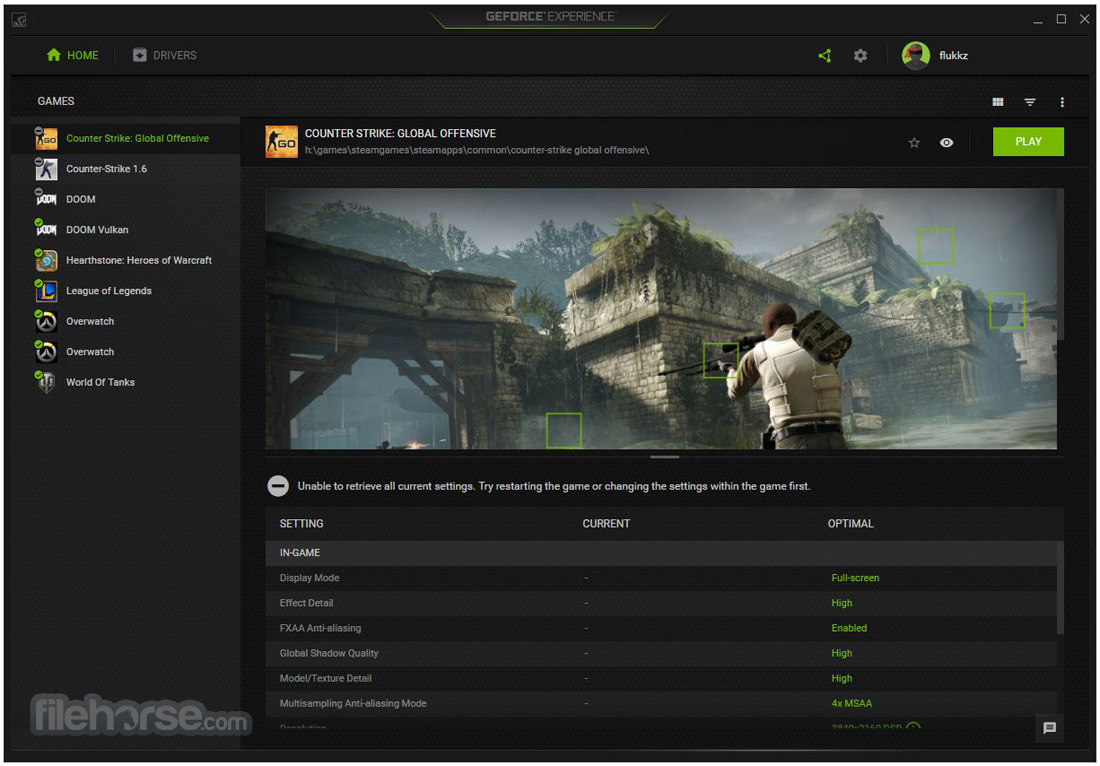 NVIDIA GeForce Experience 3.13.1.30 Captura de Pantalla 1