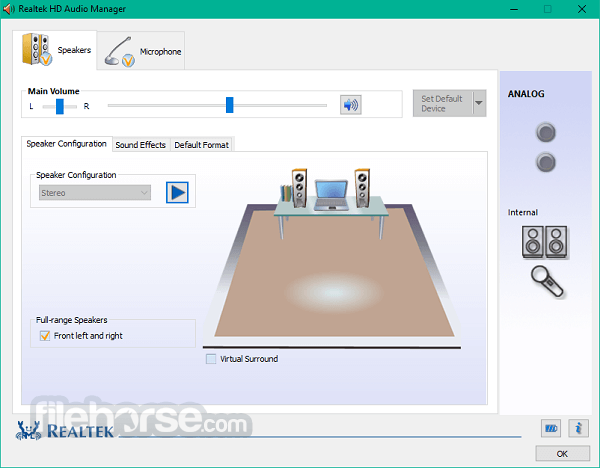 Realtek High Definition Audio 2.82 (32-bit) Screenshot 1