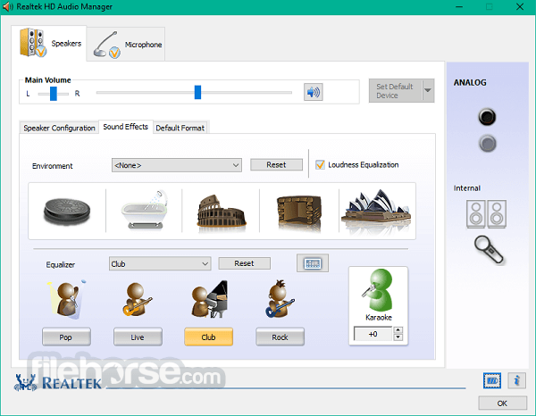Realtek High Definition Audio 2.82 (64-bit) Screenshot 2