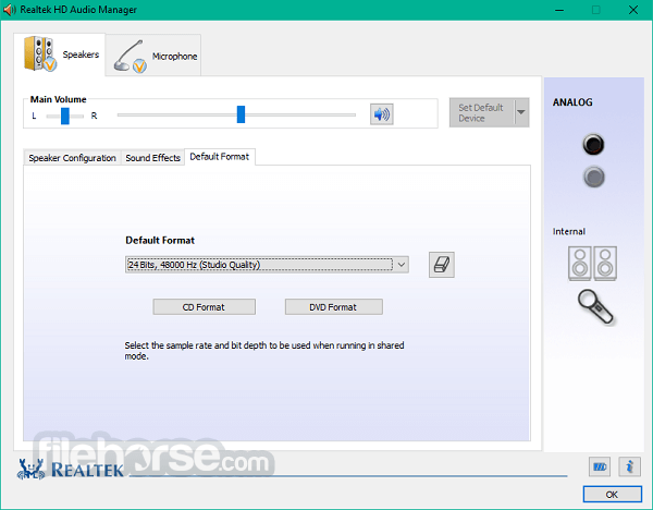 Realtek High Definition Audio 2.74 (XP) Screenshot 3