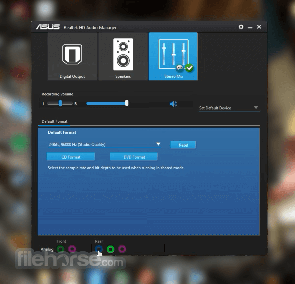 Realtek HD Audio Manager R2.82 Screenshot 4