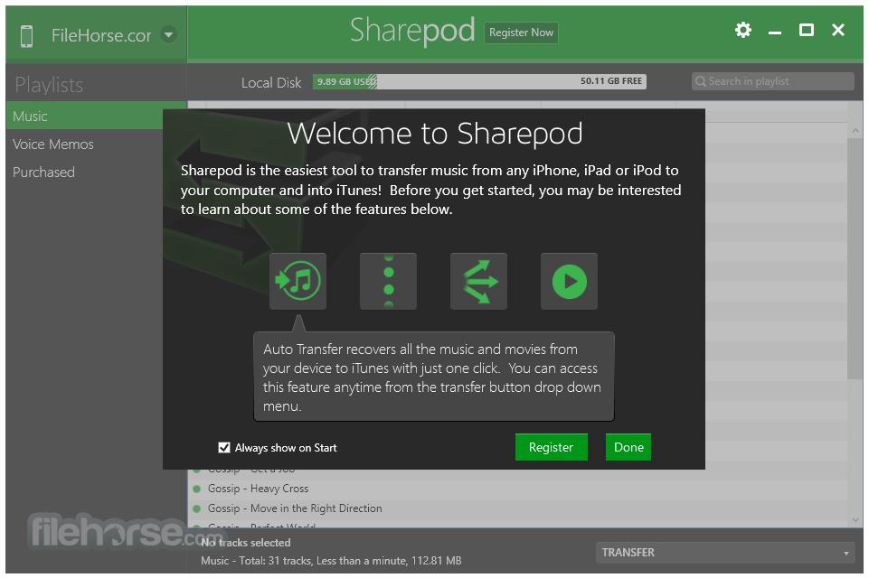 Sharepod 4.2.0.0 Screenshot 1