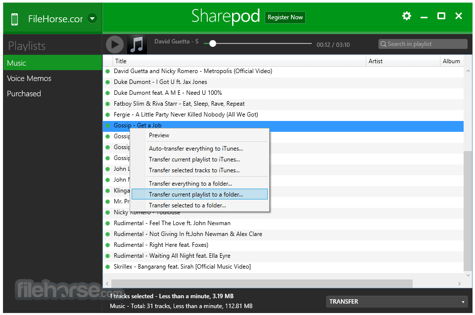 Sharepod 4.2.0.0 Captura de Pantalla 3