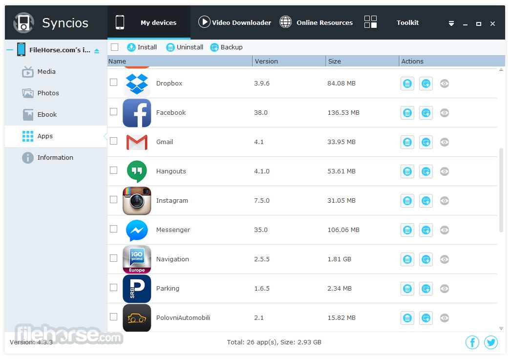 Syncios 6.3.4 Screenshot 3