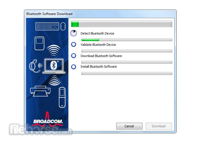 WIDCOMM Bluetooth Software 12.0.0.210 Captura de Pantalla 1