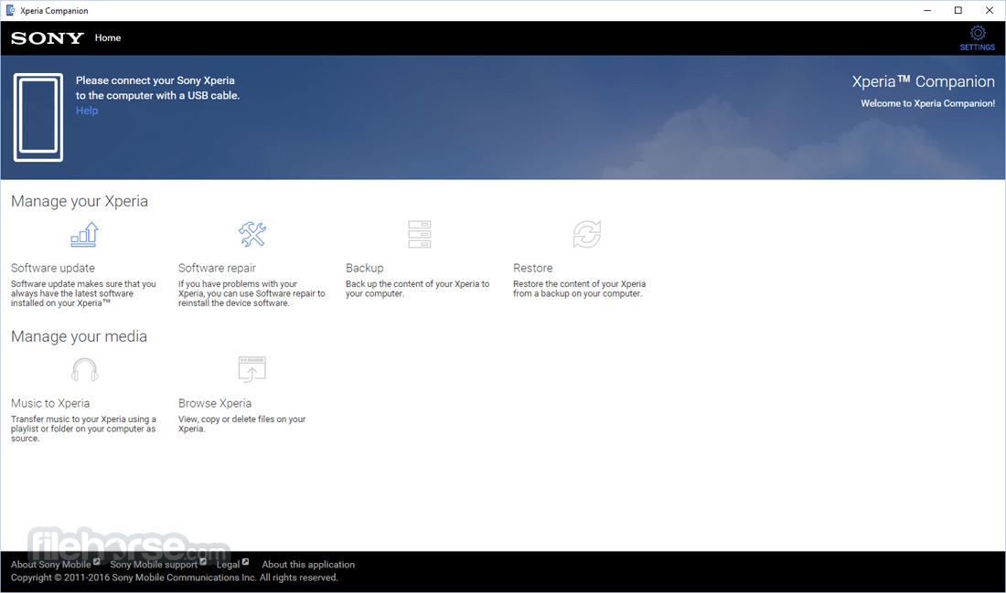 Xperia Companion - Софтуер за флашване, ъпгрейдтване на Sony Xperia телефони