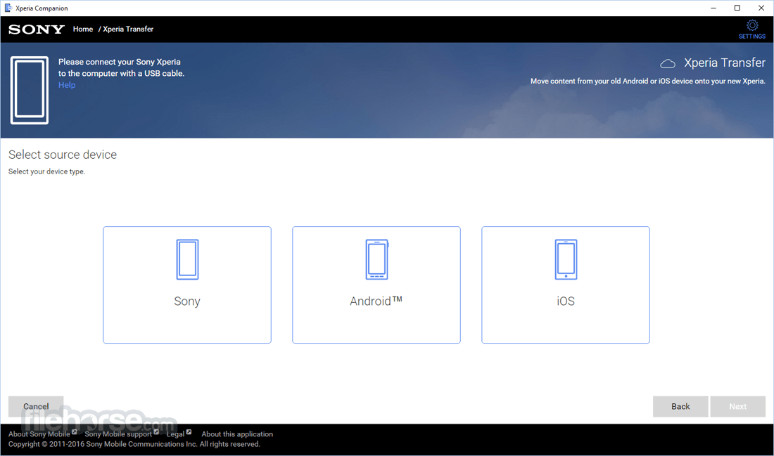 Xperia Companion 2.1.12.0 Screenshot 3