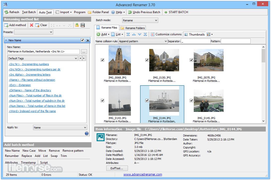 Advanced Renamer 3.82 Screenshot 2
