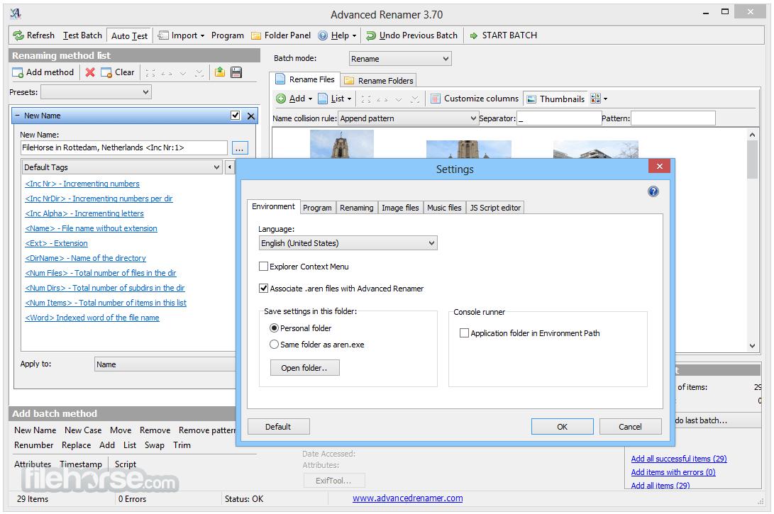Advanced Renamer 3.82 Screenshot 5