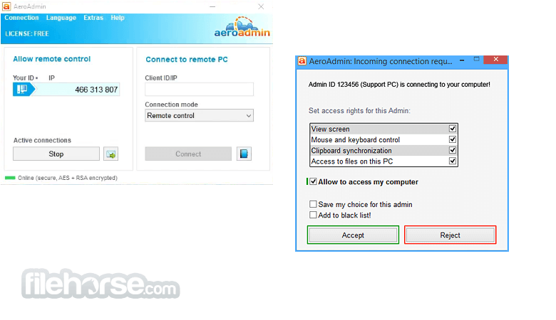 AeroAdmin 4.7 Screenshot 1
