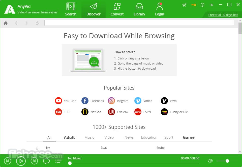 AnyVid for Windows 9.2.0 (64-bit) Screenshot 5