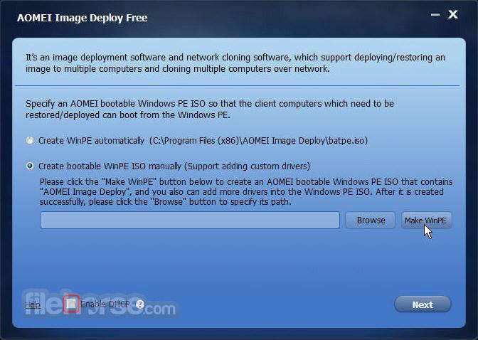 AOMEI Image Deploy 1.0 Screenshot 1