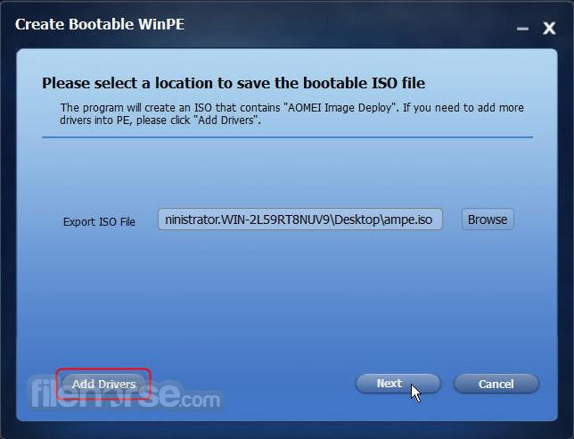 AOMEI Image Deploy 1.0 Screenshot 2