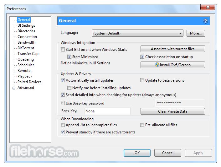 BitTorrent Classic 7.10.5 Build 46011 Screenshot 5