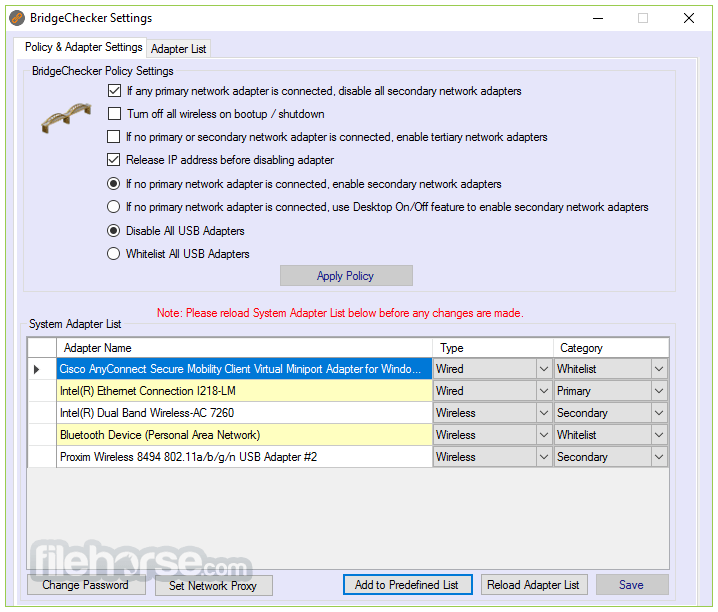 BridgeChecker 1.9.8 Build 711 Screenshot 1