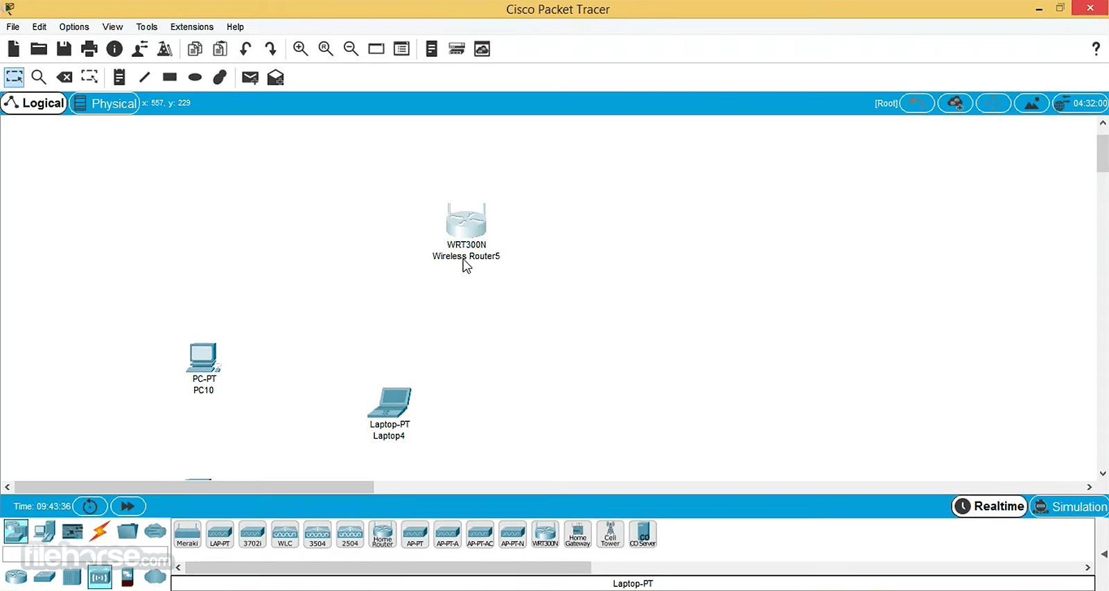 Cisco Packet Tracer 7.0 (64-bit) Captura de Pantalla 1