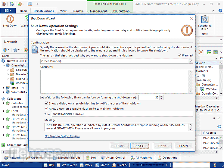 EMCO Remote Shutdown 7.1.0 Captura de Pantalla 2