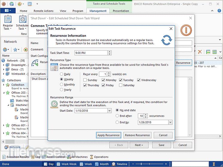 EMCO Remote Shutdown 7.1.0 Captura de Pantalla 4