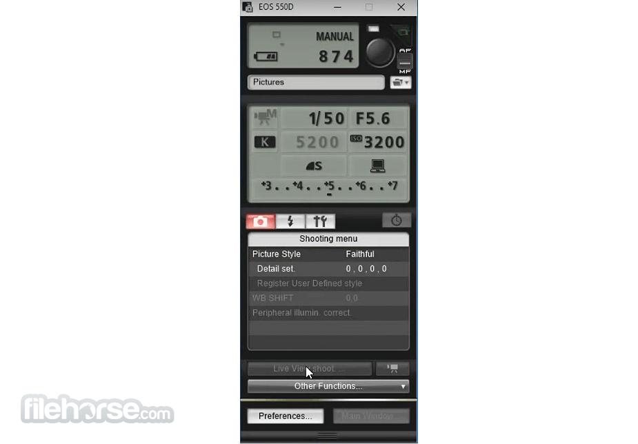 EOS Utility 3.13.20.4 Captura de Pantalla 2
