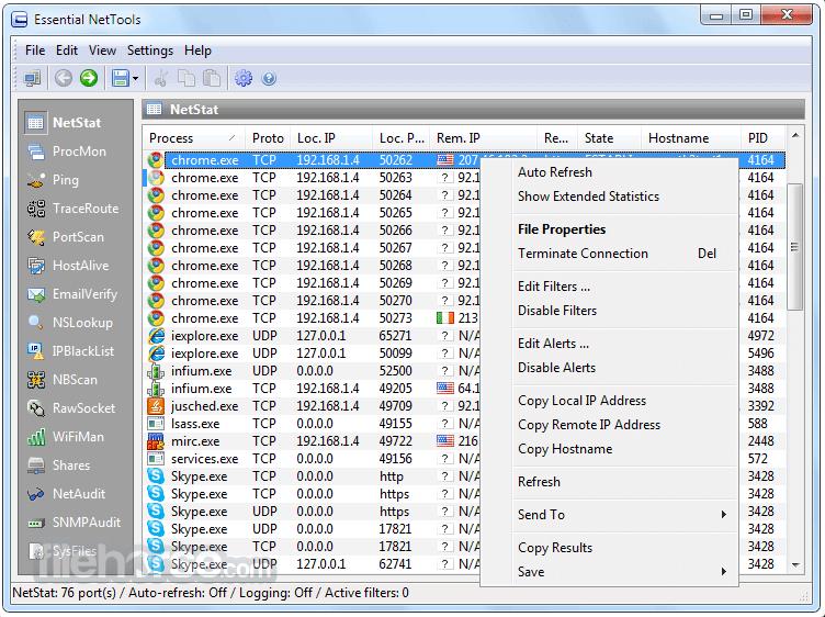 Essential NetTools 4.4 Build 302 Screenshot 1