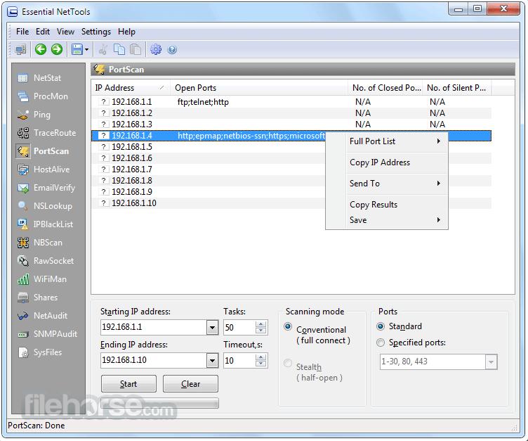 Essential NetTools 4.4 Build 302 Screenshot 3