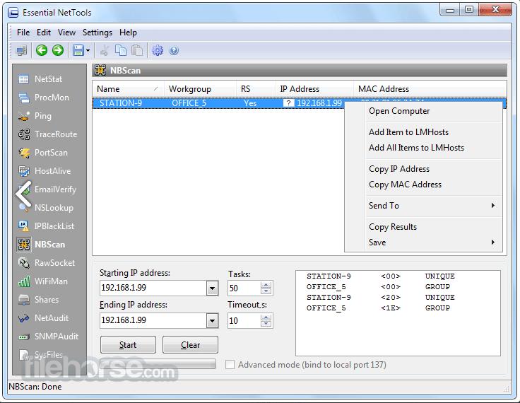 Essential NetTools 4.4 Build 302 Screenshot 5