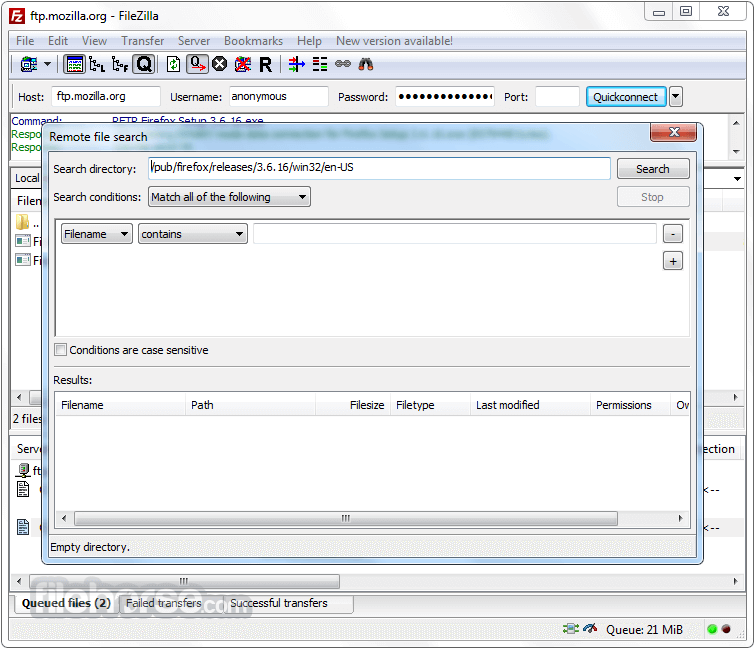FileZilla 3.25.0 (32-bit) Screenshot 5
