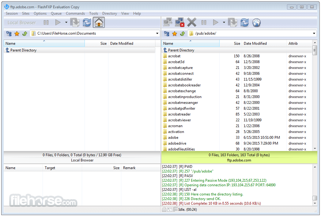 FlashFXP 5.4.0 Build 3970 Screenshot 1