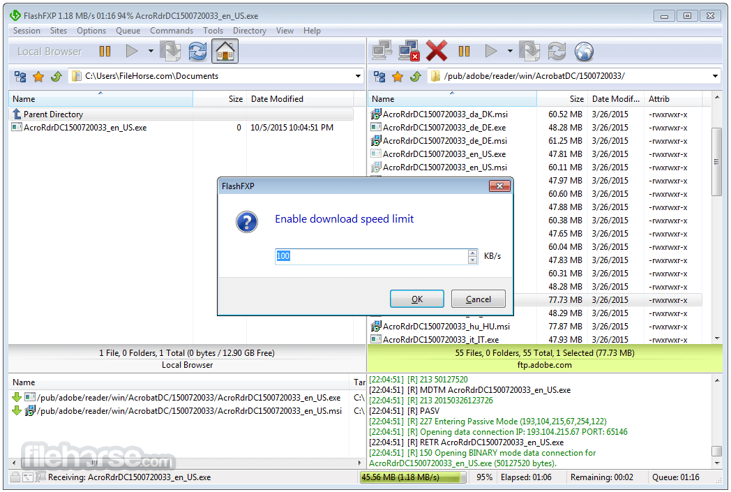 FlashFXP 5.4.0 Build 3970 Screenshot 3
