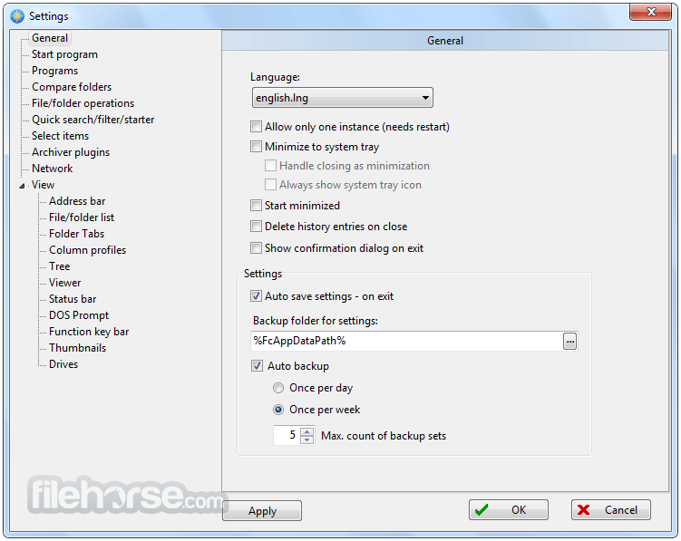 FreeCommander XE 2017 Build 740 Captura de Pantalla 3