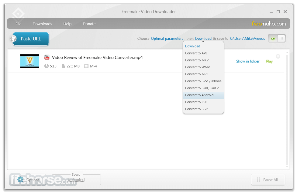 Freemake Video Downloader 3.8.2.1 Captura de Pantalla 3